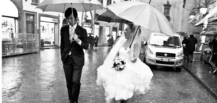 matrimonio e pioggia