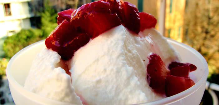 gelato di yogurt alle fragole