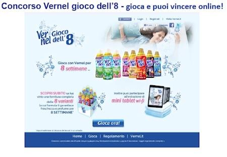 Vernel e concorso 8 settimane