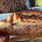 Torta autunnale di mele nuove e castagne senza uova e senza burro