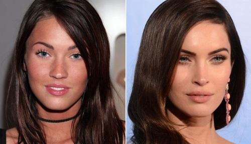 Megan Fox prima e dopo
