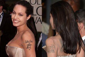 angelina jolie tatuaggi prima e dopo