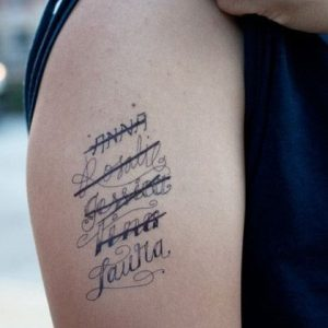 tatuaggi scritte da non fare nomi degli ex