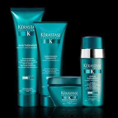 linea Kérastase Résistance per capelli ricci o spessi danneggiati